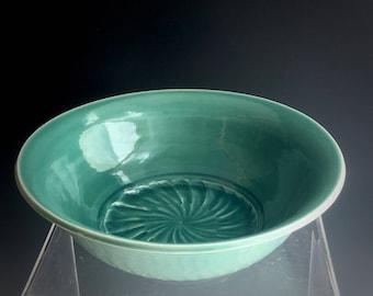 Dining and Serving, Ceramic Bowl, Large Serving Bowl, Handmade Porcelain Bowl,  Decorative Bowl, Celadon Pottery, Susan Fontaine Pottery