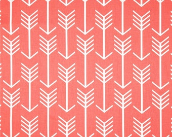 Coral Arrow Fabric by the YARD geometric upholstery Home Decor curtain pillow runners drapes peach Premier Prints SHIPS FAST