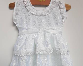 Vintage handmade apron /pinafore styled dress