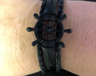 Leather Bracelet for Boat Lovers