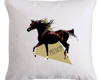 """Cushion """"horse"""" personalized with text of your choice"""