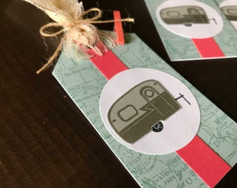 Set of 4 RV gift tags, airstream