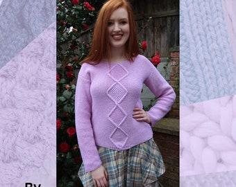 Diamond Sweater Hand Knitting Pattern