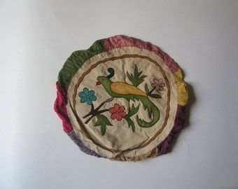 antique embroidery pillow case