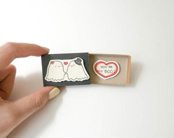 Love gift for her/ Funny Love Card/ Romantic Love's card/ Anniversary Gift for Boyfriend & Girlfriend/ You're my Boo Card/ LV001