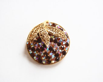 Vintage Orange Brooch
