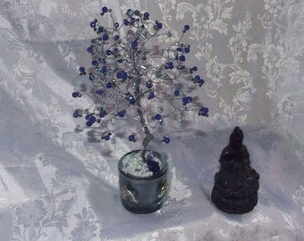 Blue Sapphire tree with Swarovski