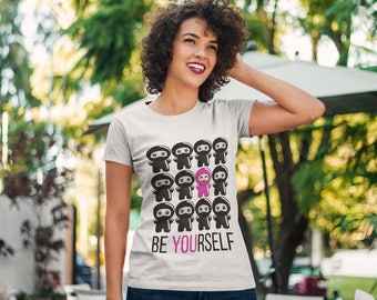 Be Yourself Ladies Cut Chibi Ninja T-Shirt