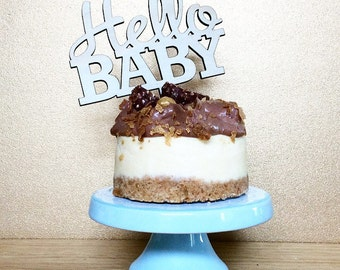 Baby Shower cake topper. Hello Baby.