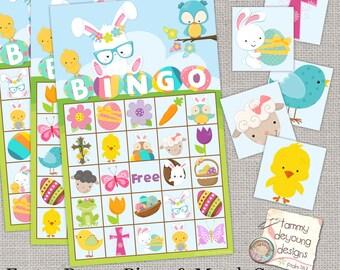 Easter Bunny Bingo, Easter Printable Game, Instant Download Spring Bingo, Kids Easter Party favor, preschool classroom activity