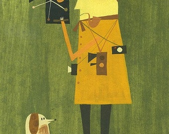 The film maker.  Limited edition print by Matte Stephens.