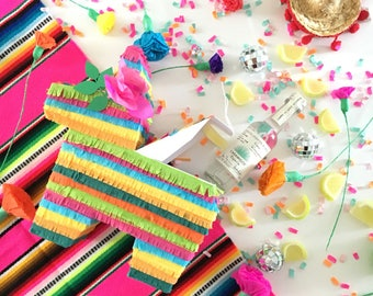 "Mini Pinata Party Favor, Pinata Gift Box, Mexican Wedding, Cinco de Mayo, Decoration, Invitation, Bridesmaid Proposal, One 6.5"" Piñata"