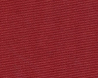 Recycled Water Bottle ORGANIC Cotton Blend Eco Twill Fabric Red MULTIPURPOSE