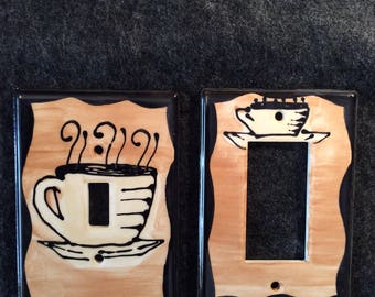 Coffee Switch Plate Cover