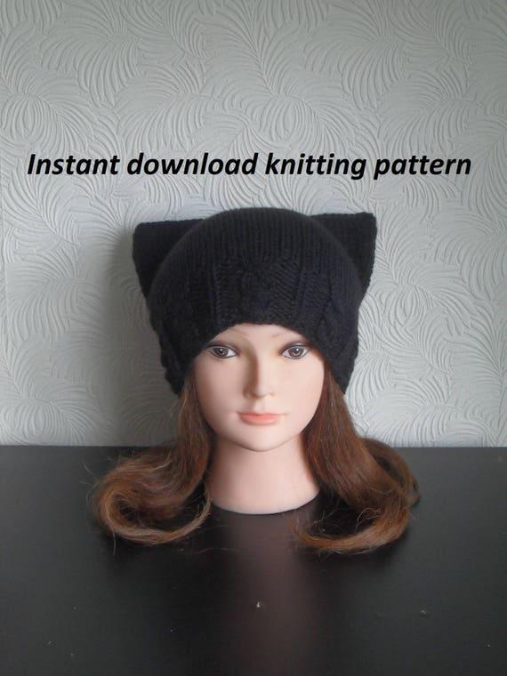 Cat Ear Hat Knitting Pattern Download