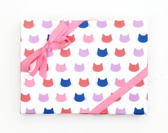 Cat Gift Wrap Funny Wrapping Paper Girls Birthday Gift Wrap Sheets Cat Wrapping Paper Rolls Gifts for Cat Lovers Cat Pattern Cute Wrapping