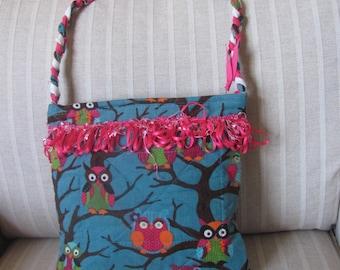 Corduroy Owl Purse