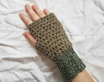 Olive Green Crochet Fingerless Gloves, Women's Fingerless Gloves, Olive Green Gloves, Women's Gloves, Crochet Fingerless Gloves, Gloves
