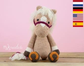 Crochet pattern - Horse Piem