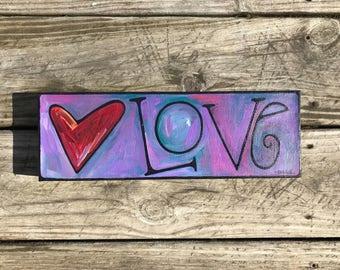 Love acrylic on canvas painting
