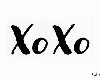 XoXo geek positive message applied fusible black