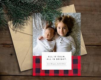 Printable Photo Christmas/Holiday Card (Custom) Instant Download