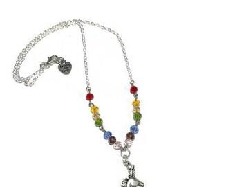 UNICORN Rainbow Necklace, Unicorn Pendant, Rainbow Necklace, Unicorn Chain, Unicorn Jewelry, Unicorn Charm Necklace, Unicorn Necklace
