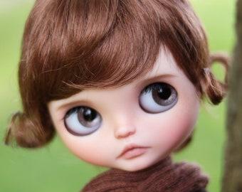 "10-11"" BEAUTIFUL Short Jessica Auburn doll WIG for Blythe and Neo Blythe Custom American Girl"