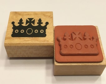 small crown rubber stamp, 20 mm (F1)