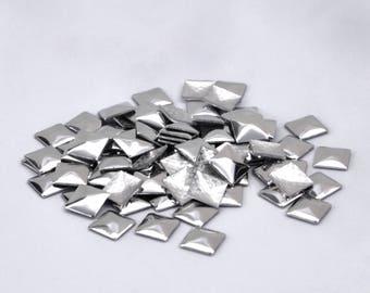 Iron On Pyramid Studs / Iron On Studs / Hot Fix Studs / Hotfix Studs / Metal Studs Pyramid / Diamond / LustroStud / 144pcs