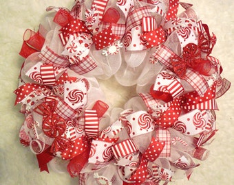 Candy Cane Wreath, Christmas Marquee Wreath, Marquee Wreath, Winter Wreath, Candy Cane, Christmas decor, Peppermint Wreath