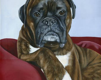 Pet Painting from Photograph, Custom Pet Portrait of your Dog or Cat, custom size 18 x 24
