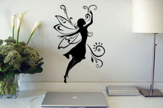 Baby girl nursery room decal magical fairy wall sticker teen