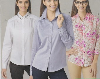 Simplicity Sewing Pattern 1279 H5 Misses' Shirt By Threads New UNCUT