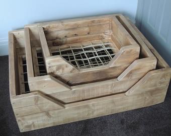 Medium Reclaimed Timber Dog Bed