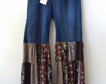 Redesigned BELL BOTTOM JEANS, Size 6