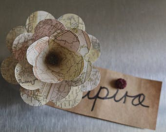 Magnets Wood Flower Set - Paper and Wood Flowers - Paper Flowers, Wood Flowers , Magnets
