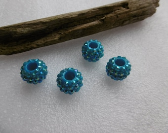 5 16x12mm turquoise resin beads