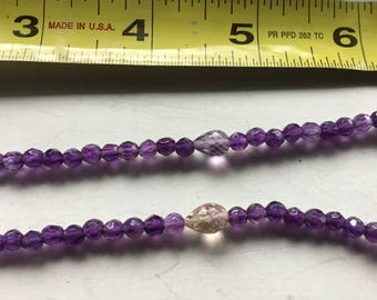 Beautiful,fine quality Amethyst with Ametrine necklace, 18 inch