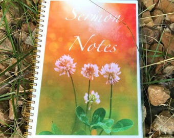 Sermon Notes Journal, Church Notes, Sermon Notes