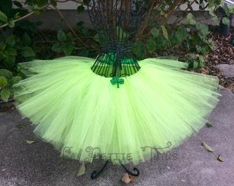 St Patricks Day tutu, shamrock, toddler tutu, girls tutu, girls clothing, clothing, princess tutu, flower girl tutu, tulle tutu, tutu dress