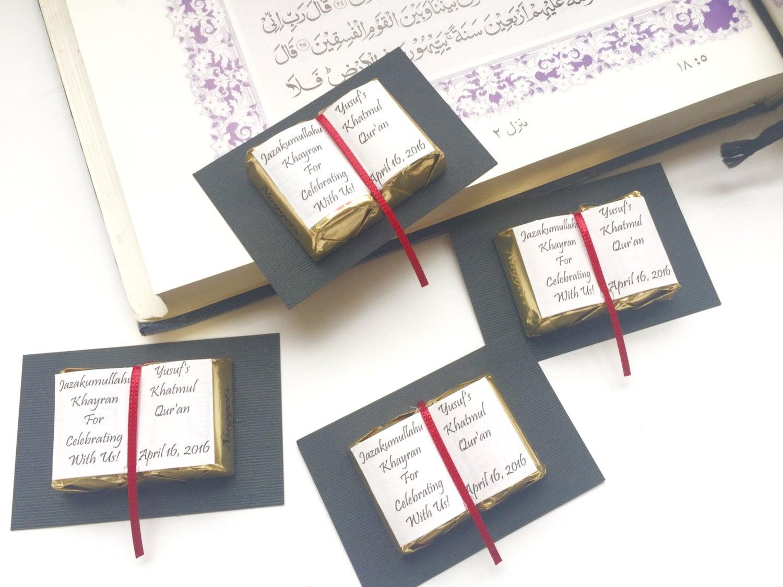 Ameen, Quran favors, Muslim wedding, hafiz, bismillah, book party ...
