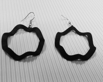 Elegant modern earrings, hoop earrings, 3d printing, geometric earrings