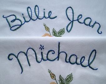 Michael Jackson, Billie Jean, taies d'oreiller, brodé à la main, Unboring cadeau, cadeau de la maison, Neverland