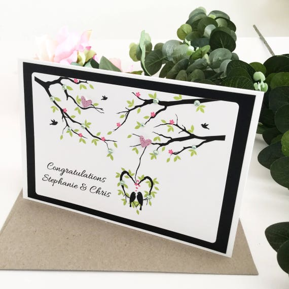Engagement Card Just Engaged Card Getting Married Card