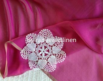 "silk fabric, 100% mulberry Silk Chiffon fabric, yarn-dyed iridescent fabric, scarf fabric, one yard by 53"" wide"