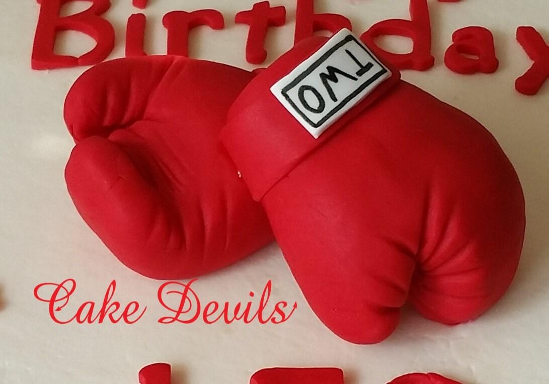 Boxing Fondant Cake Toppers