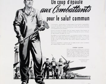 Poster - Workers, one shoulder to the fighters - 1941
