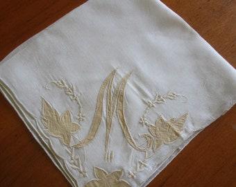 Monogram M Hanky, Vintage Hankies, Vintage Handkerchief, Handkerchiefs, Monogrammed Hankies, Monogram M, M Hanky, Something Old, Hankies