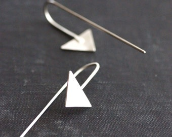 Arrow Hook Earrings - Sterling Silver